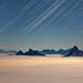 Rigi Hochflue star trails and sea of fog
