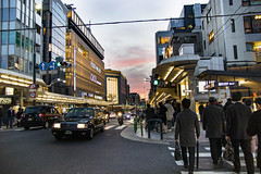 Street in Kyoto (Synghan) Tags: street road path pedestrian cross kyoto japan japanese asia asian walk walking car cars twilight lowangle travel destination attraction landmark local region regional motor motors building buildings architecture exterior outdoor photography horizontal colourimage fragility freshness nopeople foregroundfocus adjustment interesting awe wonder canon eos80d 80d sigma 1750mm f28 교토 일본 거리 시내 downtown city