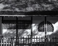 The tea house (Tim Ravenscroft) Tags: tea house traditional thatch japanese japan nara monochrome blackandwhite blackwhite hasselblad hasselbladx1d