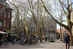 Mariaplaats, Utrecht (Davydutchy) Tags: utrecht nederland netherlands niederlande paysbas holland mariaplaats plein platz place square trees bomen bäume arbres fountain pomp march 2019