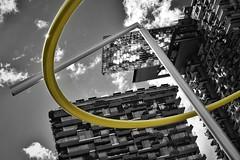 halo (gro57074@bigpond.net.au) Tags: dutchangle sydneyhalo gold 2019 march selectivecolour selectivecolor spotcolour spotcolor f16 50mmf14 sigma d850 nikon guyclift sculpture architecture broadway chippendale sydney onecentralpark halo