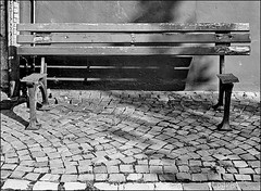 Something is missing here ... (Logris) Tags: bench bank sw bw fun canon eos seat
