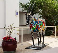 Weihrauchland Oman - Muscat City (Helmut44) Tags: oman weihrauchland muscat orient baitalzubairmuseum museum arabisch antilope farbenfreudig oryxantilope kunstwerk kunst