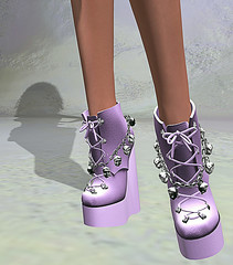LuceMia - SlackGirl at The Darkness Monthly Event (2018 SAFAS AWARD WINNER - Favorite Blogger -) Tags: thedarknessmonthlyevent slackgirl shoes boots event kellyshoes sl secondlife mesh fashion creations blog beauty hud colors models lucemia