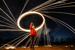 Unicorn Portal (brandonw6622) Tags: unicorn sparks streaks space sony sonya6000 astrophotography longexposure steelwool steel wool fire creative wow sky nightshot nightsky spin red coat mask field