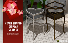 Heart Shaped Display Cabinet - 14 Days of Love Calendar Day 10 (MadPea Productions) Tags: madpea productions madpeas 14days love calendar gifts gift decor decoration valentines valentine cupid