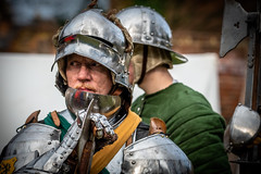 Battle Axe (Andy..D) Tags: commandery d500 worcester worcestercommandery armour sword menatarms manatarms knight poleaxe battle axe portrait medieval chainmail reenactment helmet helm shield
