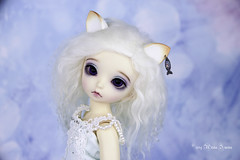 Commissioned cat sets yosd (AnnaZu) Tags: cat set ears tail white fish ring flower yosd littlefee luna fairyland bjd abjd balljointed doll polymer clay accessoires