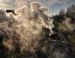 Great Central Railway Loughborough Leicestershire 28th January 2018 (loose_grip_99) Tags: greatcentral railway railroad rail train loughborough leicestershire eastmidlands england uk smoke steam engine locomotive contrejour contrajour lner ger b12 460 8572 gala gassteam uksteam trains railways gcr january 2018