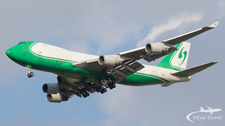 TLV - CAL Cargo Airlines Boeing 747-400 Freighter 4X-ICD