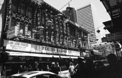 the peking bazaar (blakeboulka) Tags: 35mm blackandwhite ilford delta100 film bw delta bnw walking exploring chinatown peking bazaar chinese lanterns sanfrancisco grainy manual analog nikon f3