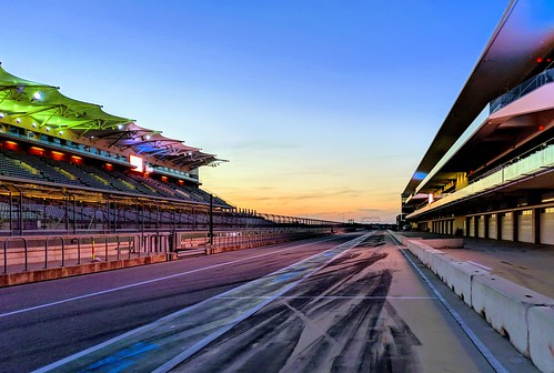 Dusk at the circuit