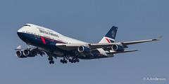 Boeing 747-400 G-BNLY BritishAirways 20190329 Heathrow (steam60163) Tags: heathrow heathrowairport retrolivery britishairways boeing747 jumbojet landor
