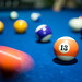 Pool 13 ball and action around it