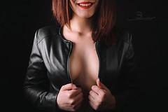 Glamour (tomashradsky) Tags: glamour photo photography portrait portret girl jacket red lips hair vlasy bunda červená černá black model fuji xt3 foto fotografie
