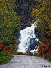 ... (Jean S..) Tags: water river waterfall forrest colors autumn fall road rural