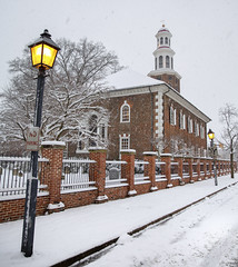 Christ Church after a Winter's Storm (Rob Shenk) Tags: alexandria snow virginia winter christchurch dc oldtown snowy snowstorm2019 church churchyard