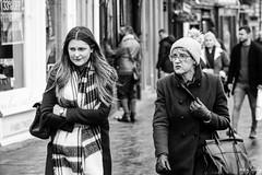 I Talk, You Listen (Cycling-Road-Hog) Tags: blackwhite candid canoneos750d citylife colour efs55250mmf456isstm edinburgh edinburghstreetphotography fashion hat monochrome people places royalmile scarf scotland street streetphotography streetportrait style urban