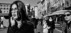 Chasing pavements.. (Baz 120) Tags: candid candidstreet candidportrait city contrast street streetphotography streetphoto streetcandid streetportrait strangers rome roma ricohgrii europe women monochrome monotone mono noiretblanc bw blackandwhite urban life portrait people italy italia grittystreetphotography faces decisivemoment