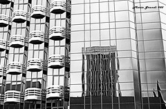 Series: Playing with Black and White - N6 (mariagrandi985) Tags: geometry buildinggeometry architectureandgeometry building architecture architecturedetails buildingdetails modernarchitecture modernbuilding moderndesign reflections glasswall glassreflections blackandwhitephotography blackandwhiteandgray blancoynegro blanconegroygris gray gris noiretblanc biancoenero lines uploadedonjanuary312019 mariagrandi985 contrast ilovecontrast city cityskape citydetail citycenter monochromatic monochrome