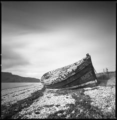 Hope Fat Rust (Mark Rowell) Tags: ullapool scotland hasselblad 903 swc fuji acros 120 6x6 mediumformat blackandwhite bw film