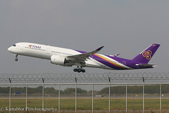 Thai Airways International A350-941 HS-THF (Kantabhat P) Tags: thai thaiairways thaiairwaysinternational airbus airbusa350 hsthf bangkok takeoff aviation airplanes airplane plane aircraft rollsroyce trent a350 a350xwb