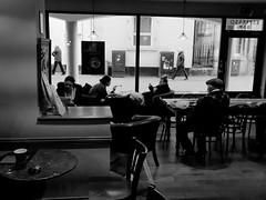 through the window 3 (watcher330) Tags: carmarthen woman window cafe