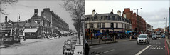 Finchley Road`1903-2019 (roll the dice) Tags: london camden old swisscottage tube underground entrance local history bygone retro sad mad surreal changes collection canon tourism tourists traffic transport streetfurniture architecture oldandnew pastandpresent hereandnow urban fashion people england uk classic art pastandprresent urinal roundel chimney lights speed horsecart vanished corner demolished trees edwardian milk shops shopping parade o2 windows pret nw3