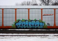 Avol (quiet-silence) Tags: graffiti graff freight fr8 train railroad railcar art avol crk pigs autorack bnsf