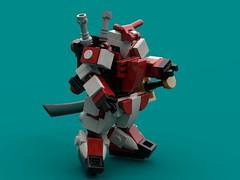 Armor realignment (The Hydromancer) Tags: mech suit zero frame mobile mfz scifi micro space katana sword seed gundam lego astray red