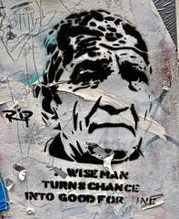 RIP, London, UK (Robby Virus) Tags: london england uk unitedkingdom greatbritain britain gb english british wise man chance good fortune head rip artist street art stencil graffiti