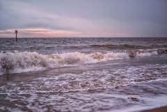 Breaking Waves (Adrian.W) Tags: bridlington beach bridlingtonbeach seashore waves breakingwaves dusk winter eastcoast yorkshire eastyorkshire panasonic lumix lumixgx9 micro43 mirrorlesscamera landscapephotography 25mm