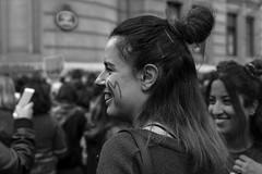 8M Dia Internacional de la Mujer - Bilbao (samarrakaton) Tags: 2019 samarrakaton nikon d750 70200 bilbao bizkaia gente people 8m díainternacionalmujer woman mujeres lucha reivindicacion manifestacion protesta byn bw blancoynegro blackandwhite monocromo