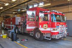 Portland, Oregon Fire Department.  Squad 12 (RJACBclan) Tags: portlandfiredepartment fireengine firetruck pierce engine12 squad12 tiller rescuetruck oregon