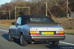 1990 Saab 900i 16 Convertible (NielsdeWit) Tags: nielsdewit car vehicle a12 saab highway driving snelweg 900 16 i16 900i convertible cabrio cabriolet yp44fr favourite
