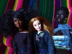 """White balance"" or ""Luminosity"" (roroDolls) Tags: christie aabarbie mbili princessofsourhafrica strawberryblonde fairskin contrast vivid colourful diversity"