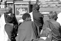 Festive day in Leh (Paolo Levi) Tags: shantistupa leh ladakh monk buddhism buddhist tibetan india canon fd ftb 135mm tmax