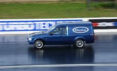 Escort van_3923 (Fast an' Bulbous) Tags: drag race car vehicle automobile fast speed power acceleration motorsport outdoor nikon track strip racecar santapod ford