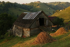 Rural Transylvania (Derbyshire Harrier) Tags: 2018 romania transylvania summer rural barn haystack sunrise morning rustic naturetrek magura