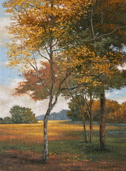 Autumn, Composition in Gold (luis_colan) Tags: painting oilpainting landscape trees luiscolan art artwork autumn