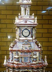 Gundagai. The clock and top of Rusconi's marble masterpiece. made from 1910 to 1938. See it in the Information Centre for a very small fee. (denisbin) Tags: gundagai grenfell marble masterpiece rusconi clock cenotaph warmemorial rectory anglicanrectory gundagairectory church anglican courthouse house grenfellhall