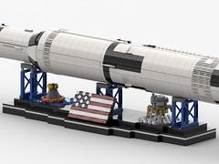 Saturn V Display mit Saturn V (Knackepeter) Tags: lego moc saturn v nasa apollo space 21309 rebrickable bricklink lxf ldd