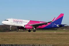 G-WUKA | Airbus A320-232 | Wizz Air UK (james.ronayne) Tags: gwuka airbus a320232 wizz air uk aeroplane airplane plane aircraft jet aviation flight flying london luton ltn eggw canon 80d 100400mm raw