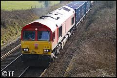 DB Schenker 66135 (Tf91) Tags: class 66 freight dbs dbschenker ashley cheshire railway uk britishrail 66135 class66 diesel loco locomotive
