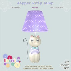 larnia-dapperkittylamppurple-ad (rory larnia) Tags: secondlife mesh kitty lamp larnia kids home decor