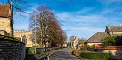 Street scene (Peter Leigh50) Tags: northamptonshire town road sky street house building church trees fujifilm fuji xt10