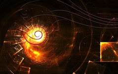 Spiraling into Flame (MyDigitalLandscape) Tags: graphic design flame spiral art abstract