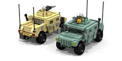 Lego HUMVEE - HUMMER (DarthDesigner) Tags: ldd moc builds instructions bricks brick mocs legodigitaldesigner starwars oninemesis thedarthdesigner tdd military lego digitaldesigner darth humvee hummer car 4x4
