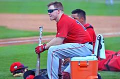 Brock Holt Waiting to Hit -- Boston Red Sox Spring Training (forestforthetress) Tags: brockholt bostonredsoxspringtraining redsox bostonredsox jetbluestadium baseball man uniform color outdoor omot nikon fortmyers