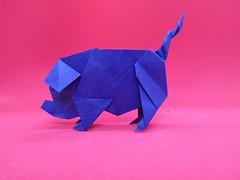Pig - Gen Hagiwara (Stefano Borroni (Stia)) Tags: origami origamipaper origamicdo origamilove origamiart piegarelacarta arte folding foldingpaper papiroflexia carta animali natura pig maiale annodelmaiale yearofthepig bluepig art paperart paper